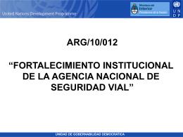Fortalecimiento Agencia Nacional Seguridad Vial
