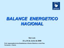BALANCE ENERGETICO NACIONAL