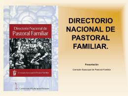 DIRECTORIO NACIONAL DE PASTORAL FAMILIAR