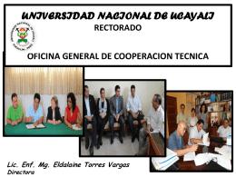 UNIVERSIDAD NACIONAL DE UCAYALI RECTORADO
