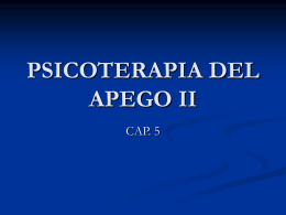PSICOTERAPIA DEL APEGO II - Principios de Psicoterapia