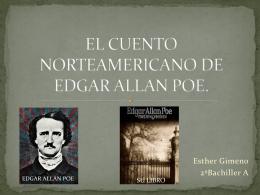 EL CUENTO NORTEAMERICANO DE EDGAR ALLAN POE.