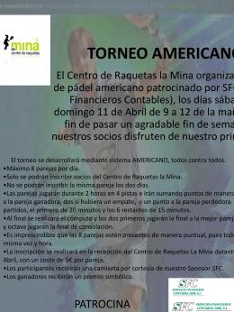 TORNEO AMERICANO - Diario La Comarca de Puertollano