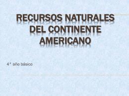 Recursos naturales del contiente americano