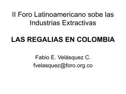 II Foro Latinoamericano sobe las Industrias Extractivas