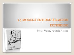 1.3 MODELO ENTIDAD RELACION EXTENDIDO