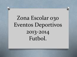 Zona Escolar 030 Eventos Deportivos 2013
