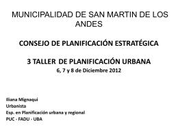 MUNICIPALIDAD DE SAN MARTIN DE LOS ANDES