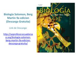 Biologia Solomon, Berg Martin 9a edicion (Descarga