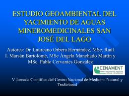 ESTUDIO GEOAMBIENTAL DEL YACIMIENTO DE AGUAS