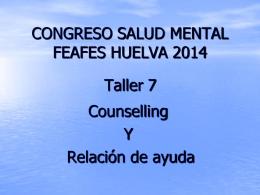 CONGRESO SALUD MENTAL FEAFES HUELVA 2014