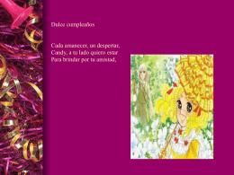 Diapositiva 1 - Recordando Candy Candy