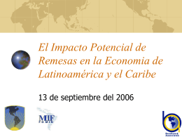 The Potential Impact of Remittances on the Regional …
