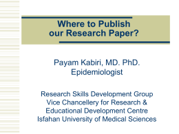 Where to Publish our Research Paper