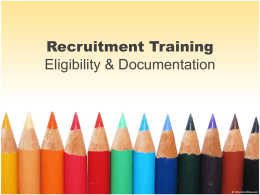 Recruitement Training Documentation