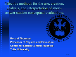Effective methods for the use, creation, analysis, and