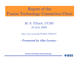 Annual Report of the Fusion Technology Committee