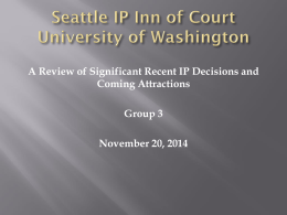 Seattle IP Inn of Court University of Washington