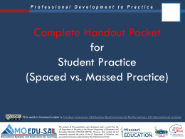 Massed versus Spaced Practice