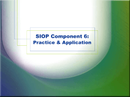 SIOP Component 4: Strategies