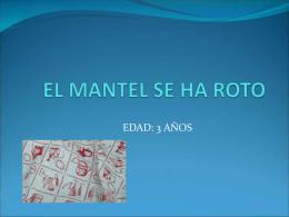 EL MANTEL SE HA ROTO