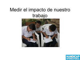 Measuring Impact - Handicap International