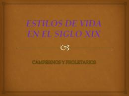 ESTILOS DE VIDA EN EL SIGLO XIX