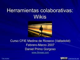 Herramientas colaborativas: Wikis