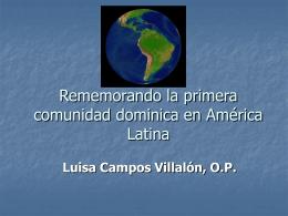 Rememorando la primera comunidad dominica en …
