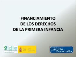 FINANCIAMIENTO DE LOS DERECHOS DE LA PRIMERA …