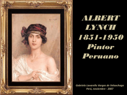 Albert Lynch, pintor peruano