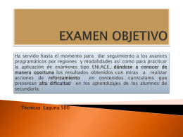 EXAMEN OBJETIVO - This Web site coming soon