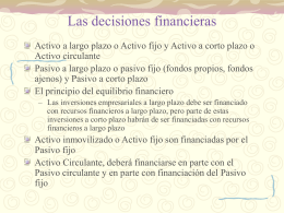 El objetivo y las decisiones financieras