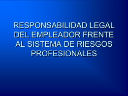 PREVENCION DE LOS ACCIDENTES DE TRABAJO Y LAS …