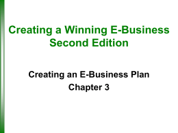 Creating a Winning E-Business