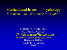Asian-American Culture & Philosophies
