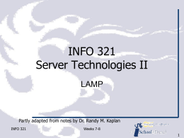 Server Technologies II - College of Computing & …