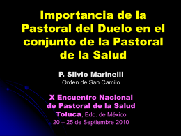 Importancia de la Pastoral del Duelo en el conjunto de la