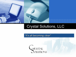 Crystal Solutions, LLC