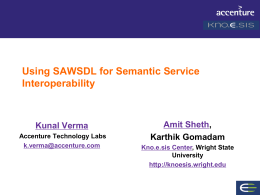 SAWSDL tutorial at Semantic Technology Conference 2007