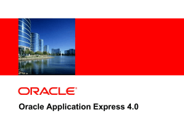 Oracle Application Express 4.0