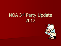 NOA 3rd Party Update 2012