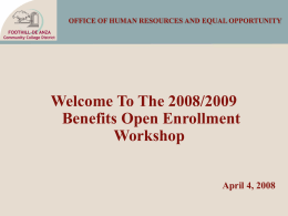 OFFICE OF HUMAN RESOURCES AND EQUAL …