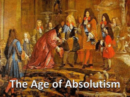 The Age of Absolutism - Wappingers Central School District