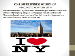 COLLEGE READINESS WORKSHOP