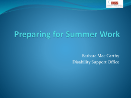Supporting Students with Disabilities in Practice Placement