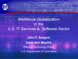 Workforce Globalization in the U.S. IT Services and