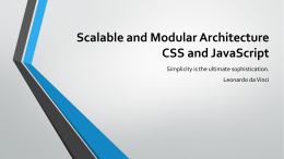Scalable and Modular Architecture CSS and JavaScript