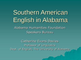 An Overview of Dialects in Alabama