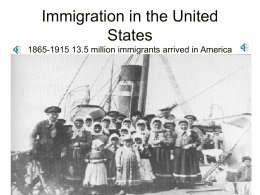 Immigration/Progressivism - Rocklin Unified School District